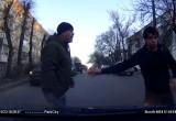 Видео: дорожная разборка водителя и пешехода в Калуге