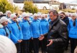 Губернатор спел «Катюшу» вместе с воспитанницами кадетского корпуса