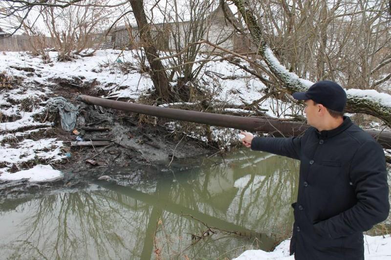Народный фронт взял на контроль проблему сброса канализационных стоков в реку Прорву