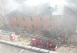 Пожар вновь охватил дом по ул. Знаменской в Калуге