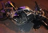 Водитель на автомобиле ВАЗ сбил мотоциклиста и скрылся