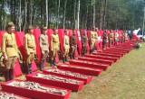 Под Калугой захоронили останки десятков солдат