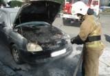 На улице Гагарина сгорела «Приора»