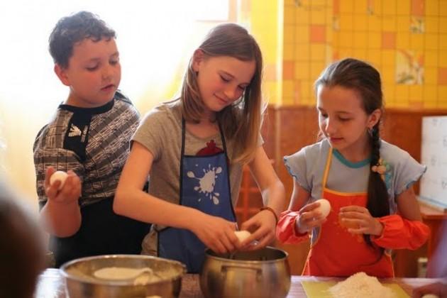 Мастер-класс в детской школе кулинарии в Калуге