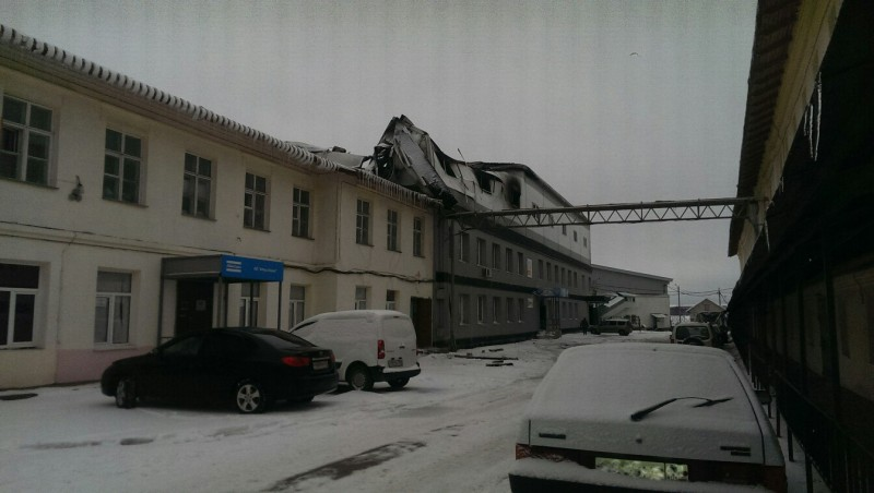 Ночью вцентре Калуги сгорел батутный центр
