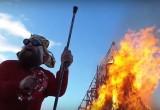 """Высотное видео: калужский """"Burning Man"""" в Никола-Ленивце"""