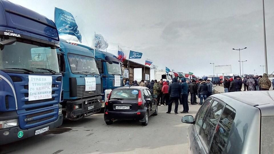 как комментировали политики забастовки дальнобойщиков