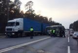 Кia и автобус попали в ДТП в районе дамбы