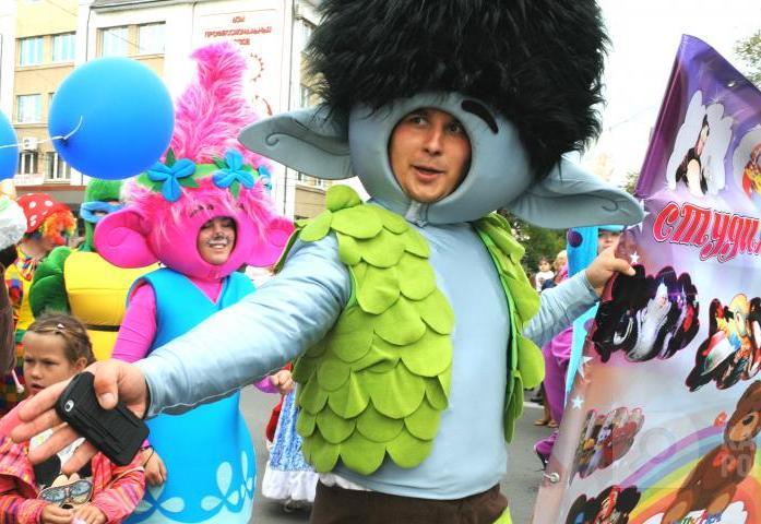 Самые необычные участники праздничного карнавала в Калуге