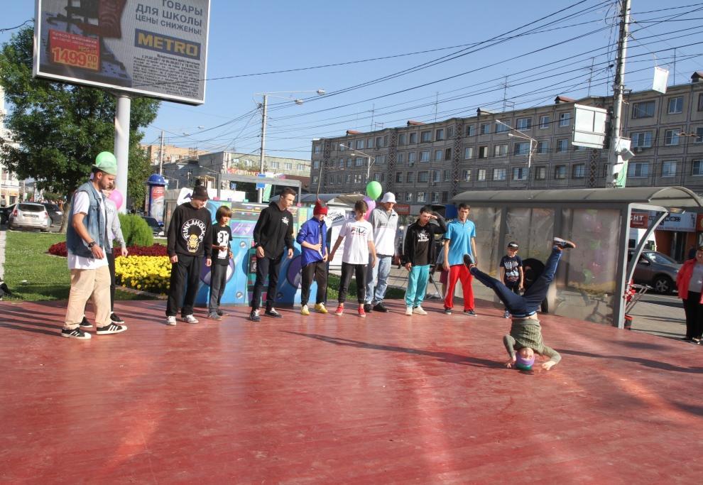 В центре Калуги открылась городская танцплощадка. Фото