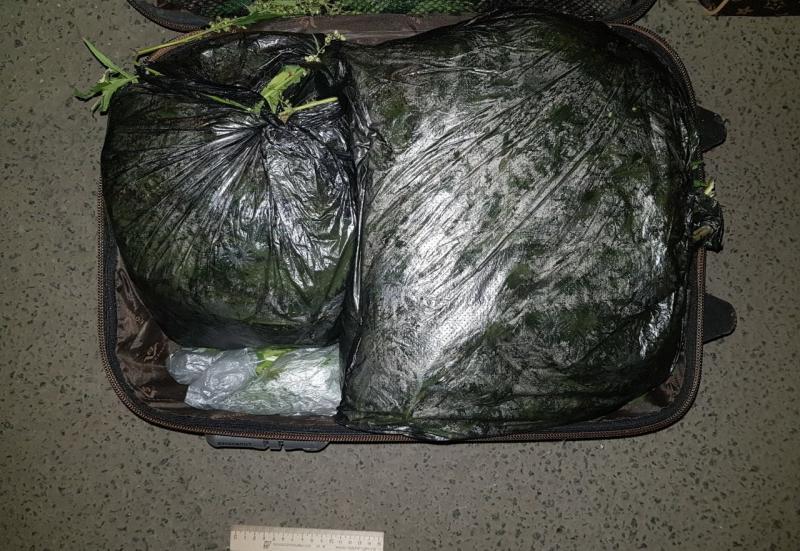 Полицейские задержали 18-летнего калужанина с чемоданом, полным наркотиков