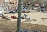 В Калуге парковка «захватила в плен» несколько автомобилей