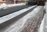 Шопинскую дорогу решили отремонтировать в снегопад