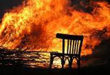 В ночном пожаре погиб неопознанный человек
