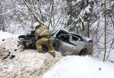 Два человека пострадали в жесткой дорожной аварии