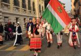 Калужане в национальных русских костюмах прошли по итальянским улицам