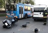В Калуге мотоциклист протаранил микроавтобус