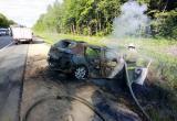 Трое взрослых и ребенок пострадали в ДТП с пожаром