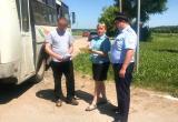 Приставы арестовали ПАЗ во время рейда на дороге