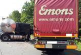 Две фуры столкнулись на калужской трассе