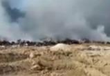 Мусорная свалка в Товарково снова горит (видео)