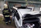 Калужанка у себя дома пострадала от въехавшего в стену авто