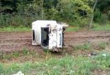 Юный водитель фургона не справился с управлением на трассе