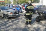 Мотоциклист пострадал в результате дорожной аварии