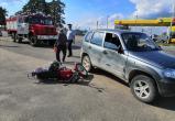 Пожилой водитель сбил мопед на трассе А-130