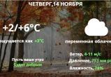Прогноз погоды в Калуге на 14 ноября