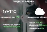 Прогноз погоды в Калуге на 22 января