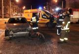 В Калуге водитель снес бампер иномарке и сбежал