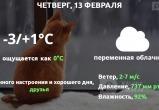 Прогноз погоды в Калуге на 13 февраля