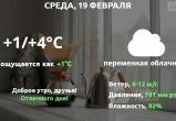 Прогноз погоды в Калуге на 19 февраля