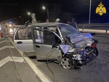 Пожилой водитель погиб после лобового ДТП на Киевской трассе