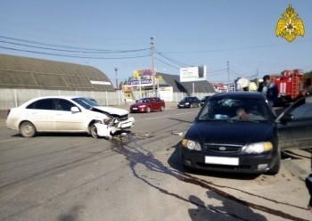 Kia и Chevrolet столкнулись на Зерновой