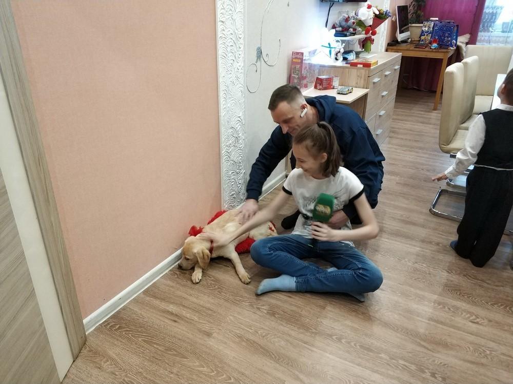 Екатерина Папанова с щенком