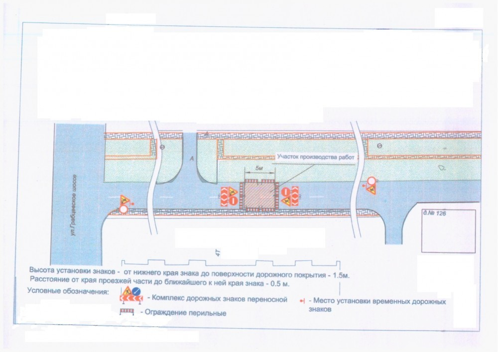 Схема перекрытия Грабцевского шоссе 29 января